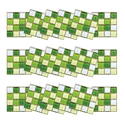 3D fliesenaufkleber küche, Selbstklebende mosaik fliesenaufkleber Bad Fliesendekor Aufkleber Selbstklebende Folie - einfache Verklebung | Wieder ablösbar 10×10cm 18 Stück