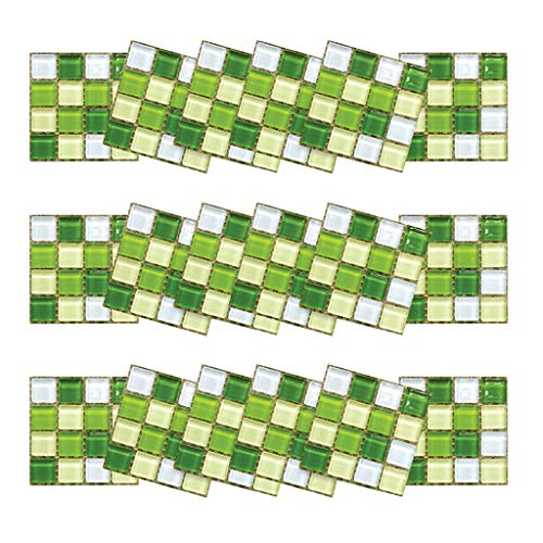 UKtrade 18PCS 10×10cm DIY Appartement Dorm Muursticker Verse Groene Tegel Mozaïek Stickers Zelfklevende Kamer Badkamer Home Decor