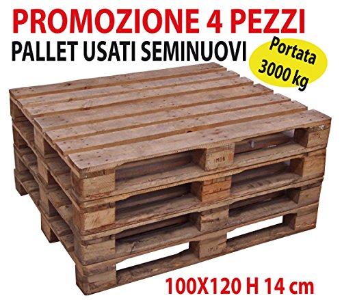 Savino Fiorenzo Bancali pedane pedana Pallet bancale usate seminuove 100x120 H 14 cm in Legno