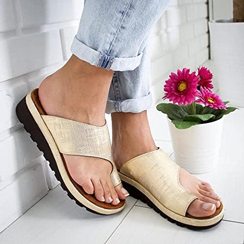 Beach Indoor Slippers Female Big Size Thick Bottomless Slippers Ladies Toe Wild fliprace-Silver_5 Durable Summer Shoes