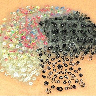 MZP 50 Autocollant d'art de clou Autocollants 3D pour ongles Abstrait Maquillage cosmétique Nail Art Design