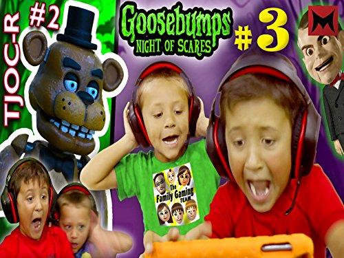 Goosebumps Night of Jump Scares Part 3 with fnaf tjoc reborn part 2!