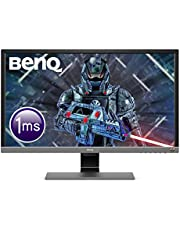 BenQ EL2870U 28 Inch UHD 4K 1 ms HDR Eye-Care LED Gaming Monitor, Free-Sync, B.I. Plus Sensor, HDMI, Display Port, Speaker - Metallic Grey