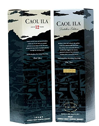 Caol Ila -Doppelpack je 1 X 1,0 Liter 12 Years, Distillers Edition
