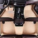 Jiahe Fußmatten Für Chevrolet Camaro 1777-1778 Fussmatten Kunstleder Wasserdicht Tragen Anti Rutsch Autoteppiche Beige