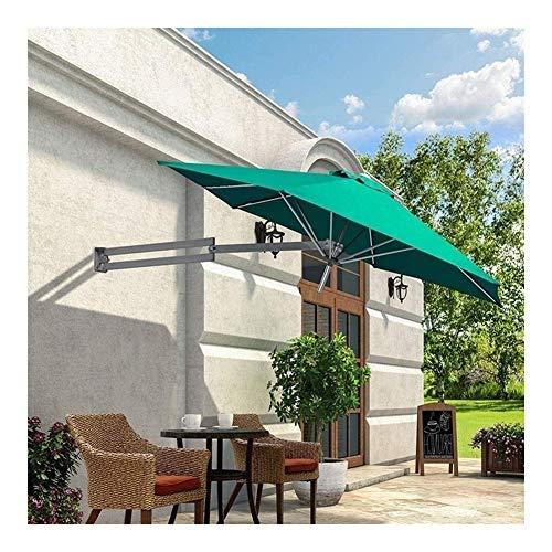Sonnenschirme Terrasse Garten Sonnenschirm Markisen tragbar Wandmontage Aluminium Terrassenschirm - Outdoor Garten Balkon neigbar Sonnenschirm Regenschirm YSJ grün