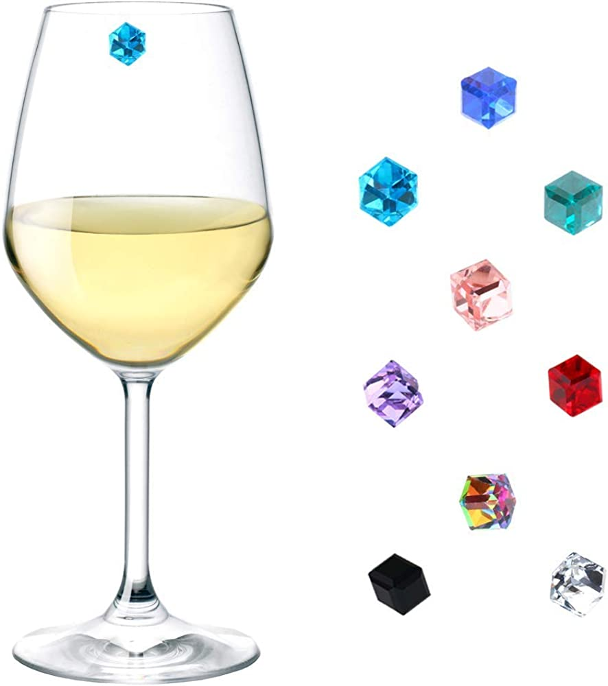 Magnetic Wine Glass Charms Crystal Mail order cheap Set Markers C Tucson Mall of 9