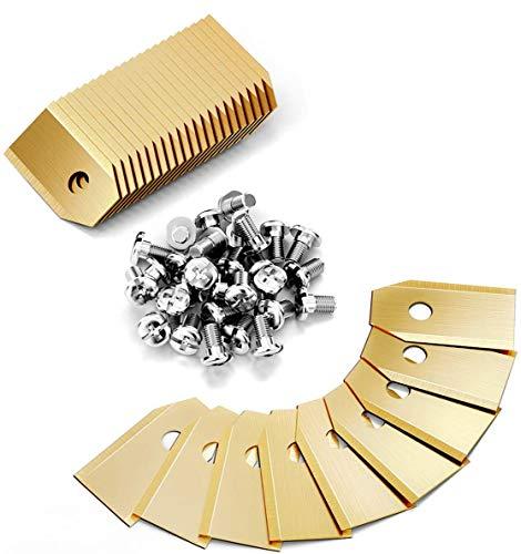 Gafild Titanio Hoja De Repuesto para cortacéspedes Husqvarna, 30 Cuchillas de repuesto para Gardena cortacéspedes, con tornillos Manufacturer: Gafild