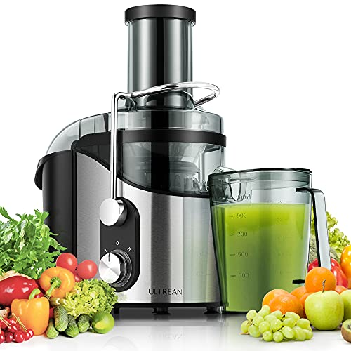"""Ultrean Centrifugal Juicer, Juicer Machine with Extra-wide 3"""" Feed Chute, 2 Speed Juicer Extractor for Fruits & Vegetables, Citrus Juicer Easy to Clean, Electric Juicer BPA Free, 800W"""