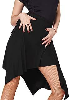 Traje de Baile de Baile Latino para Mujer de Color Negro con Falda para Mujer salón Tango Chacha Salsa Samba niñas práctica práctica