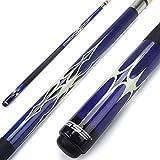 GSE Games & Sports Expert 58' 2-Piece Canadian Maple Billiard Pool Cue Stick(4 Colors, 18-21oz) (Blue - 19oz)