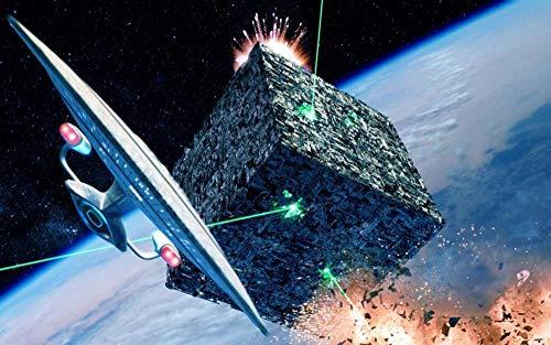 HJIAPO Puzzles Adultos 1000 Piezas Star Trek Puzzles Juegos Intelectuales Educativos,Juegos De Puzzles para Familias para Adultos Niños 75 * 50Cm