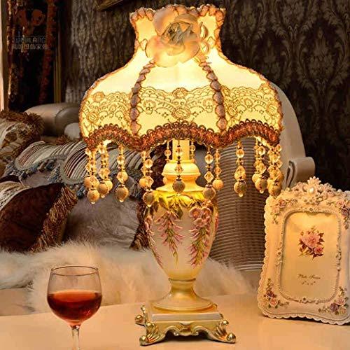 YUXIwang Lámparas de Mesa, Personalidad Simple Europea Pastoral Creativa lámpara de Escritorio, Mesa de Las Luces de decoración de la lámpara, lámpara de cabecera Caliente Dormitorio, luz de la Noche