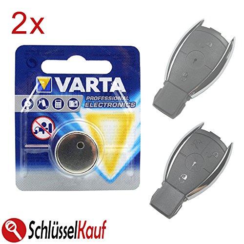 2X Autoschlüssel Batterie Blister Knopfzelle passend für Mercedes Benz W176 W203 W204 W211 W245