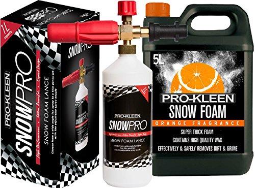 Preisvergleich Produktbild Pro Kleen Snow Schaumstoff Lance für Verwendung mit Kärcher K Serie Hochdruckreiniger inkl. 5 Liter Orange Snow Schaumstoff