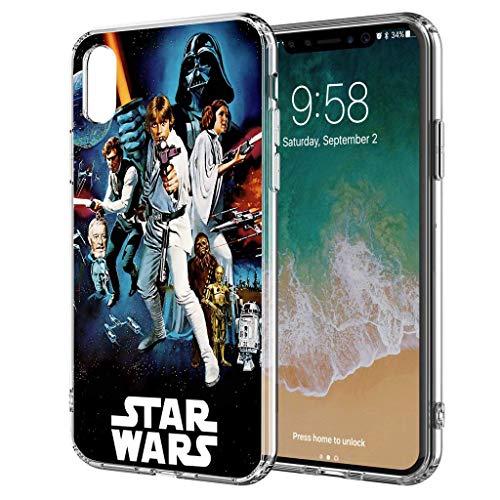 Handyhülle Jedi Star Wars kompatibel für iPhone 6 / 6s All Together Star Wars Schutz Hülle Case Bumper transparent rund um Schutz Cartoon M7