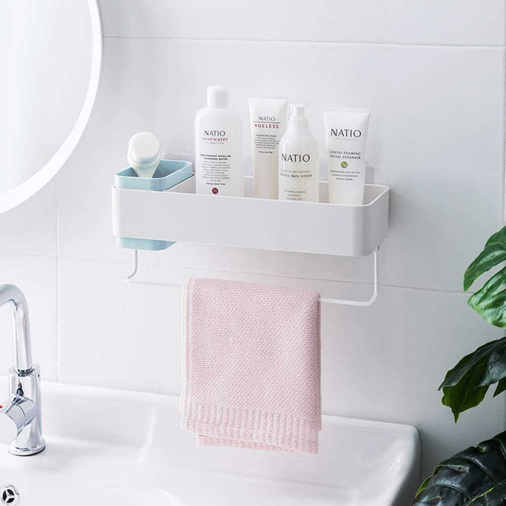 Lunmore Bathroom Milwaukee Mall Organizers Adhesive Storage with Shelf half