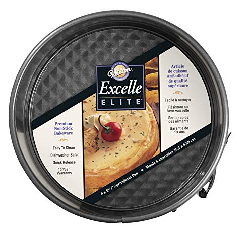 Wilton Excelle Elite Springform Pan, Sturdy Non-Stick and Scratch-Resistant Springform Pan, 6-Inch