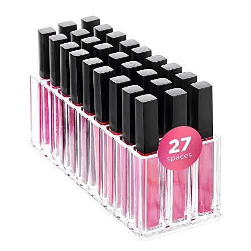 FAJ Lip Gloss Holder Organizer, 27 Spaces Clear Acrylic Makeup...