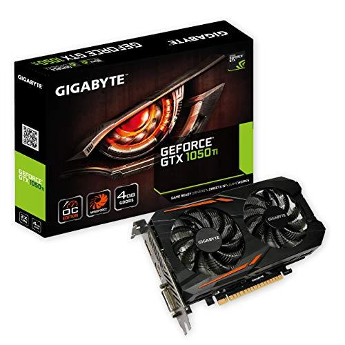 Gigabyte GV-N105TOC-4GD GeForce GTX 1050 Ti OC GDDR5 Grafikkarte 4GB schwarz