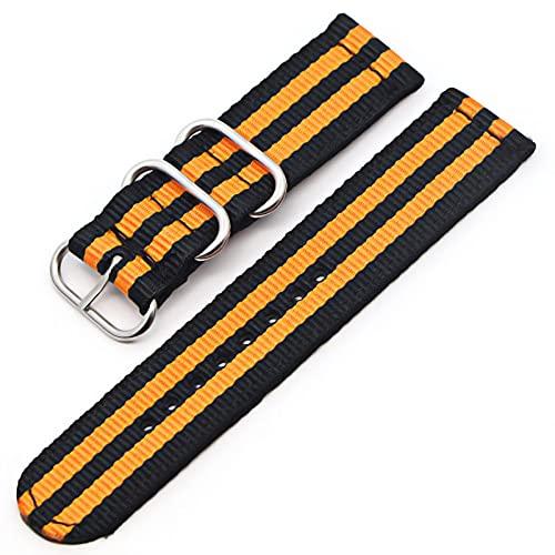 Reloj de bolsillo de cuarzo liso vintage de 6 colores, correa de nailon con hebilla negra, compatible con Samsung Gear S3 Frontier S2, correa de reloj de 18 mm, 20 mm, 22 mm, 24 mm