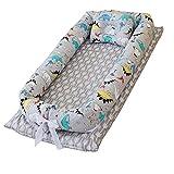 NIDONE Bebé Nido Pod algodón Cuna portátil Tumbona Nido niños pequeños Sleep Viaje Desmontable Cuna con la Almohadilla
