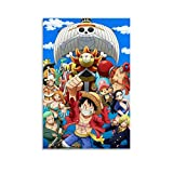 yanhony One PIECE The Straw Hat Pirates Anime Poster Canvas Art Poster y Wall Art Picture Print Modern Family Bedroom Decor Poster 30 x 45 cm
