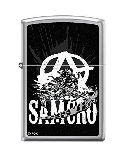 Zippo 60.000.399 Mechero de Sons of Anarchy, SOA, Zippo Collection 2015, cromo pulido extracomunitarios