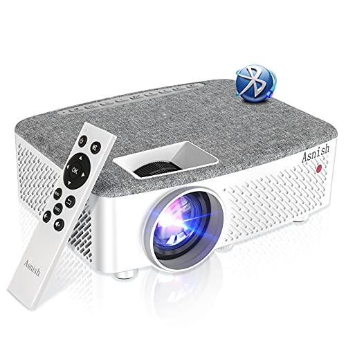 """Movie Projector HD Outdoor Projector 1080P Supported Bluetooth 200"""" Display 200ANSI-7500Lumens Compatible with TV Stick,Video Games,Phone,USB,HDMI,VGA,AV,TF,AUX"""