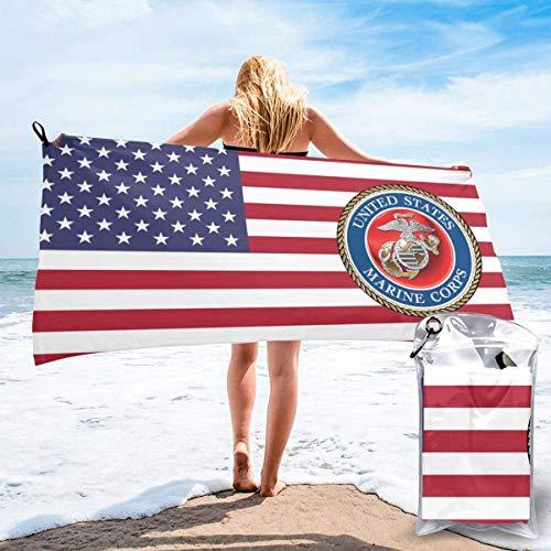 Yuanmeiju Proud Marine Stepmom United States of America Military Fast Drying Towel Water Absorbing Bath Towel