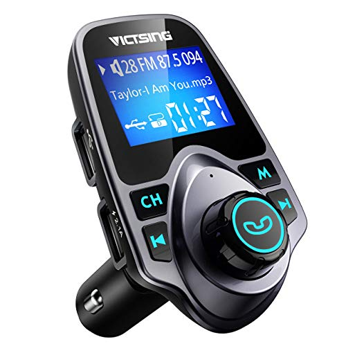 VicTsing Bluetooth FM Transmitter for Car, Wireless Bluetooth Car Adapter Car Kit with Hand-Free...