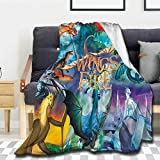 Harygrove Wings of fire Fleece Throw Blanket, 50x40 in for Kid Super Soft Warm Blankets and Throws,Lightweight Cozy Fuzzy Blanket for Couch Sofa Bed