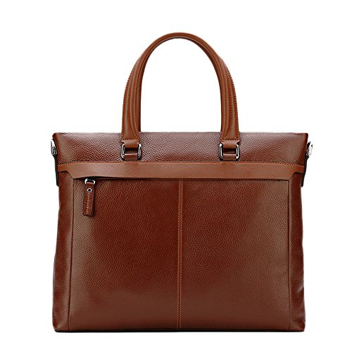 TEET Laptop Messenger Bag Men's Briefcase Leisure Bags Business Bags Handbags First Layer Leather Messenger Bags Computer Bags Suitable For Business Casual Shoulder Bag