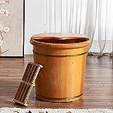 LIZHIQIANGLZQzuyupen Pedicure Bowl Wooden Foot Basin,Solid Cedar Wood Foot Basin Tub Bucket for Foot...