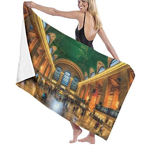 Toalla de Playa de Microfibra de Secado rápido, Grand Central Terminal New York City, Toalla Suave y Liviana para Acampar, Viajar, Nadar en la Playa, Yoga, Gimnasio, 52 'x 32'