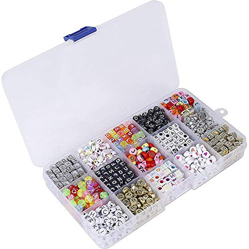 Beaded Letters DIY Bracelet Beads for Jewellery Making Bracelets Necklaces Keychain Kids 1100pcs