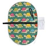 Nettes nahtloses Mehrfarbenmuster stilisierte Schildkröten, die Matten-Windel-Wickelauflage für Babys 27x10 Zoll-wasserdichte faltbare Matten-Baby-tragbare Wickelstation-Wickelauflage wasser