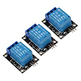 1 Channel Relay Shield Module, 3PCS DC 5V Indicator Light LED Module for Arduino R3 MEGA 2560 1280 ARM PIC AVR STM32 Raspberry Pi MCU DSP Official Boards Shield (3PCS)