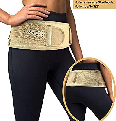 Sacroiliac Hip Belt for Women and Men That Alleviate Sciatic, Pelvic, Lower Back and Leg Pain, Stabilize SI Joint | Trochanter Belt | Anti-Slip and Pilling-Resistant (Nude, Plus)
