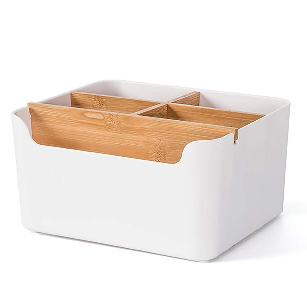 GG.S Caja De Almacenamiento De Mesa De Bambú Caja De Almacenamiento De Oficina Estante De Control Remoto De Sala Caja De Almacenamiento De Artículos para El Hogar: Amazon.es: Hogar
