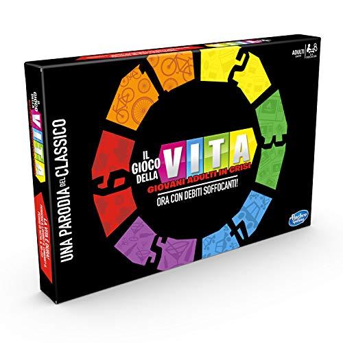 Hasbro Gaming - Il Gioco della Vita Giovani Adulti in Crisi, Multicolore, E4979103