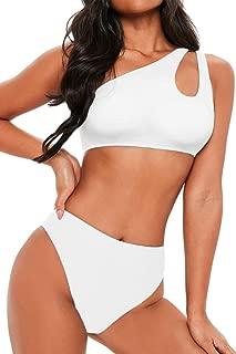 Women's Bikini Set Cutout One Shoulder High Waist Two Piece Swimsuit
