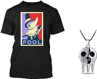Sleek Neek Soul Eater Fool Excalibur Anime Men's Cotton Black T-Shirt