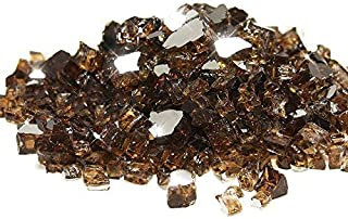 Cookingstar Fire Pit Fireplace Glass, High Luster 10-Pound x 1/2-Inch Fire Glass (Rich Copper Reflective)