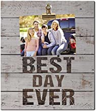 "Kindred Hearts 12""x13.5"" Best Day Ever Clip It Pallet Board Wall Art"