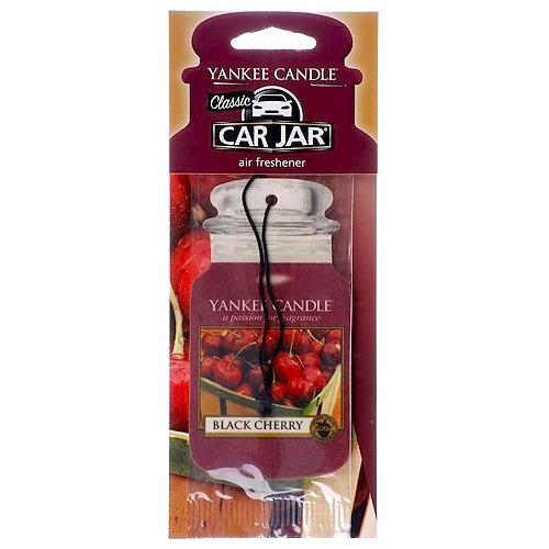 YANKEE CANDLE 5038580069648 Deodorante Auto Jar Black Cherry, Rosso, 7.7x19.7x0.7 cm