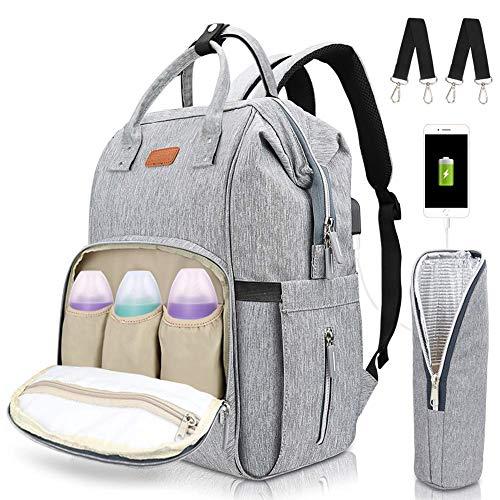 Telgoner Baby Wickelrucksack, Wickeltasche, Multifunktional Groß Kapazität Oxford Babytasche Rucksack für Unterwegs (Baby Wickelrucksack-A)