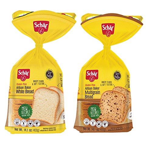 Schar Gluten Free White Bread & Multigrain Bread, 14.4 Ounce