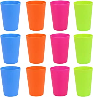 OFKP Durable Reusable Rainbow Travel Beverage Tumblers Juice Plastic Cups Set for Outdoor Picnic A Set of 8 pcs