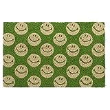 HOGAR Y MAS Felpudo Happy Fibra DE Coco Natural 40X60 - Verde